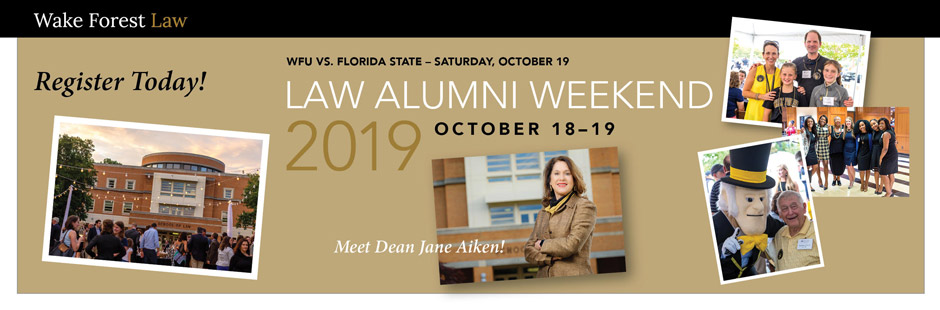 Register Today: Law Alumni Weekend 2019, October 18-19
